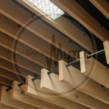 Hook On Borulu AAhşap Akustik Baffle Tavan Paneli