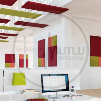 Ofis Kumaş Kaplı Akustik Yüzer Tavan Paneli